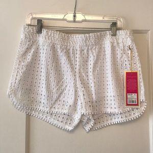 NWT Lilly Pulitzer x Target White Eyelet Shorts